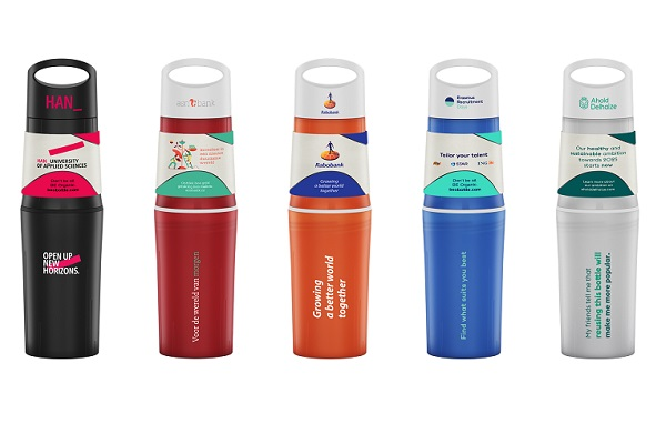 BE O Bottle alle colours with a sleeve