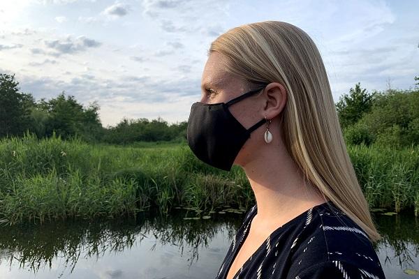 Fair-Trade-face mask-black-in-environment