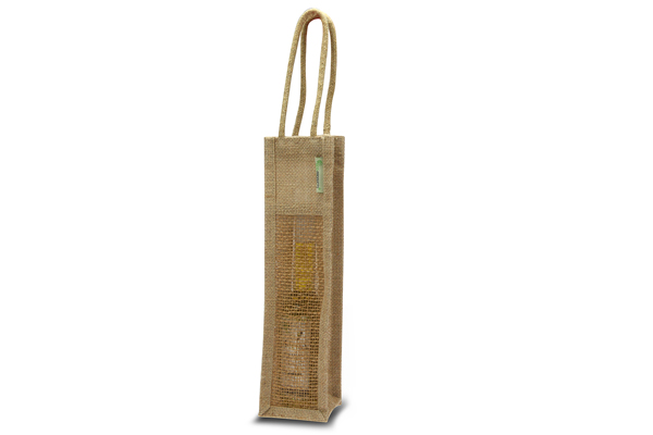 Jute wine bag Mesh Small
