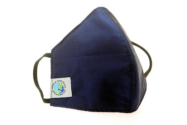face mask fair trade blue