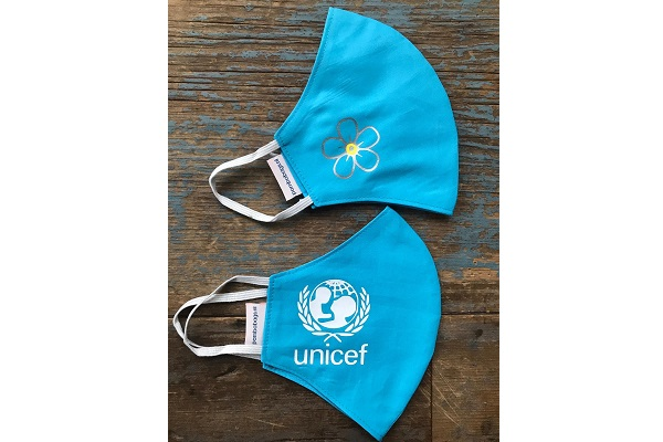 printed mouth masks Unicef